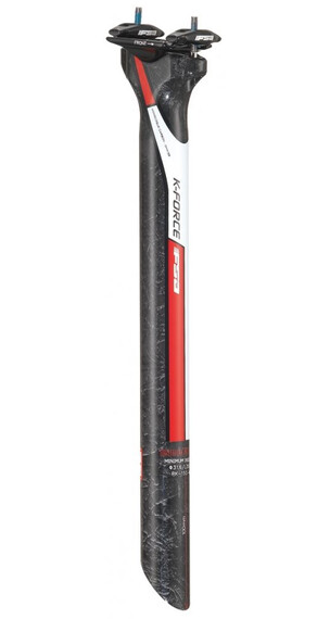 FSA K-Force SB0 Sattelstütze Ø27,2 mm Carbon rot-weiß
